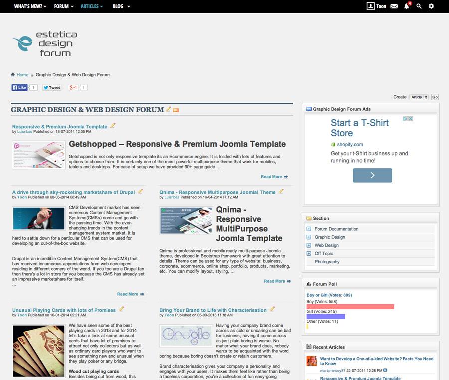 Graphic Design Forum CMS