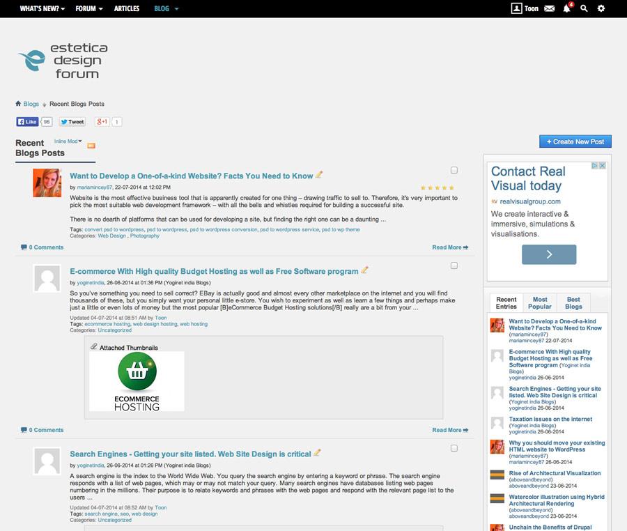 Graphic Design Forum Blog