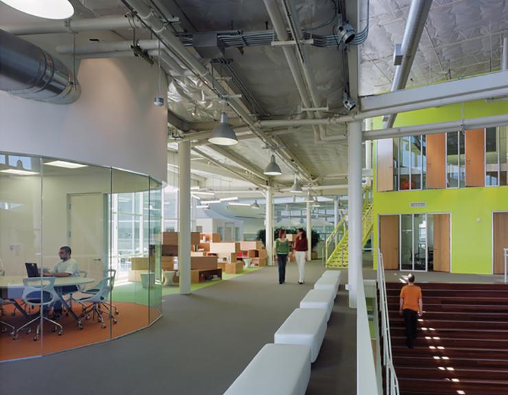 Google Headquarters seating area