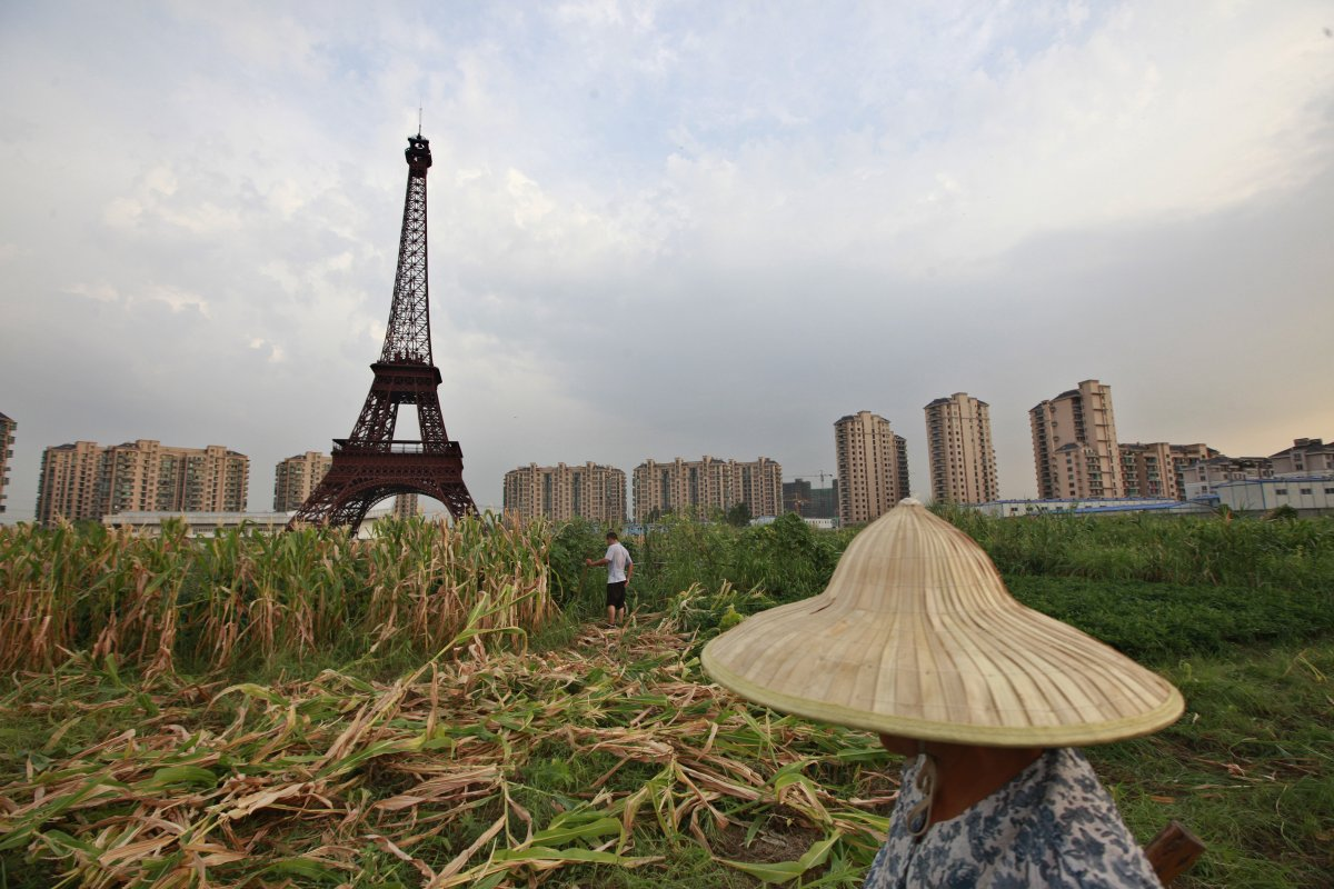 In China they built a replica of Paris