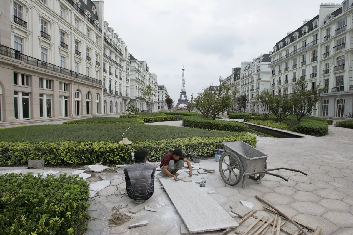 Paris streets in China