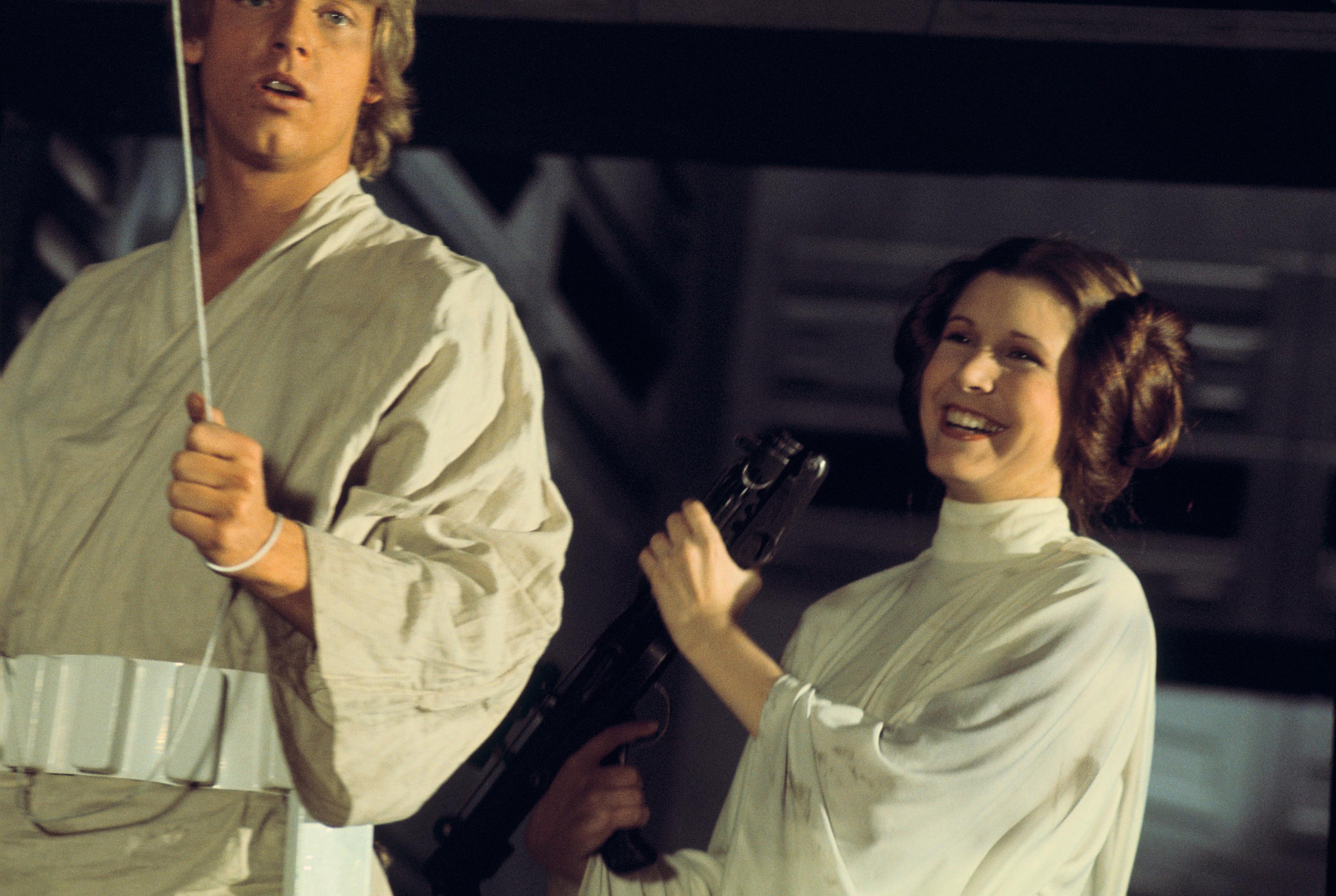 Carrie Fisher as Leia Organa