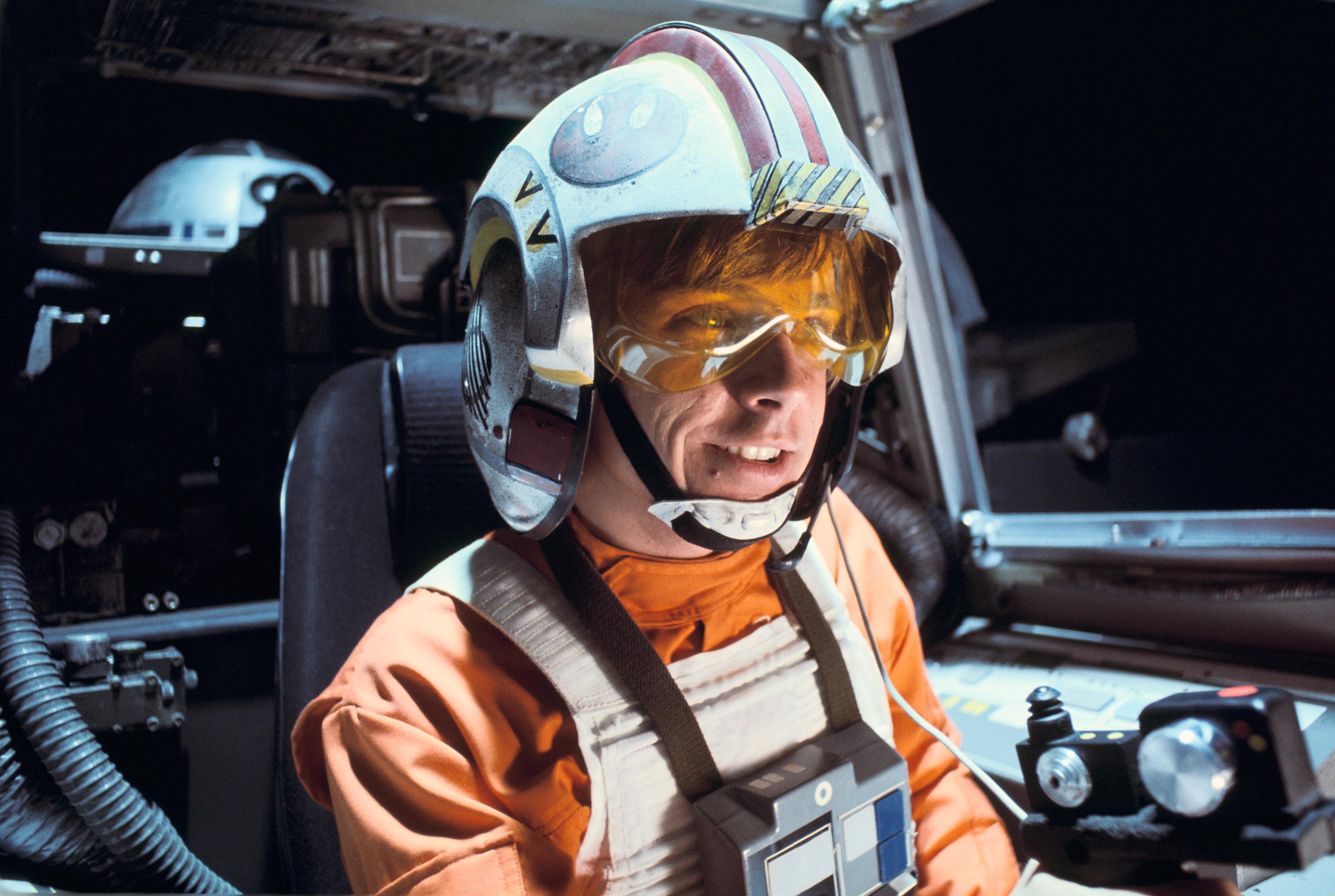 Luke Skywalker in his X Wing