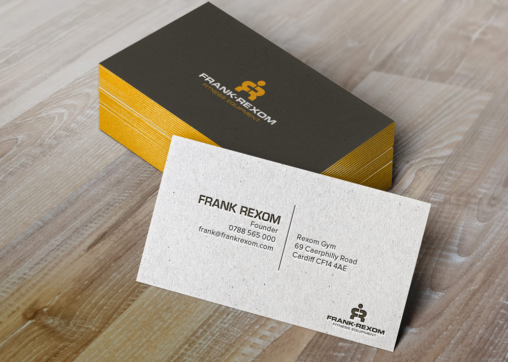 Frank Rexom Fitness, Cardiff – Business Card Designs
