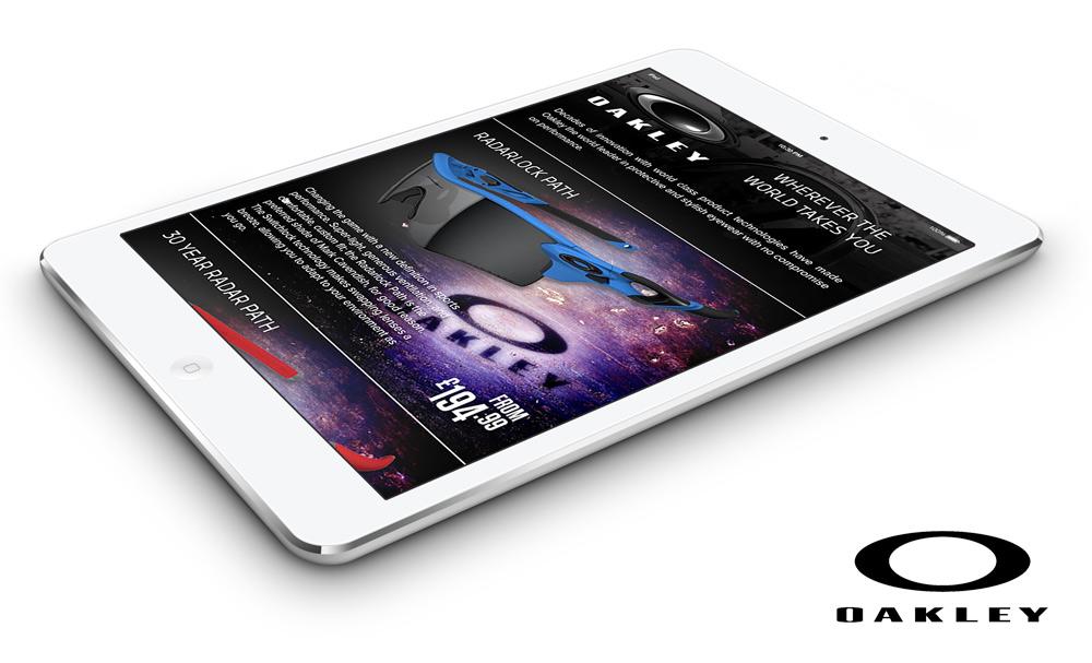 Oakley Email Newsletter Tablet
