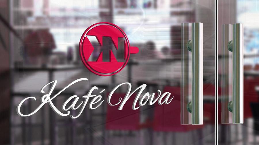 Coffee Shop Logo - Door