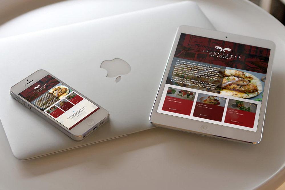 Le-Lobster Bistro, Liverpool – Web App