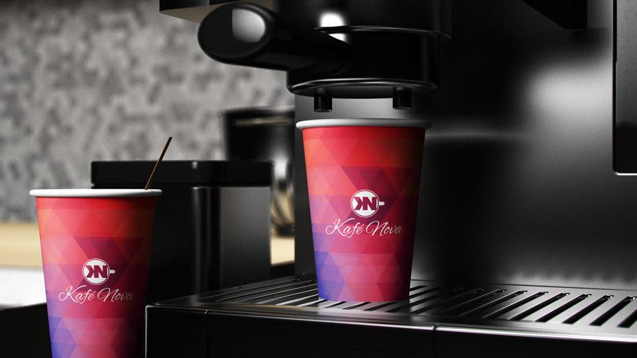 Coffee Shop Logo - Cup Design