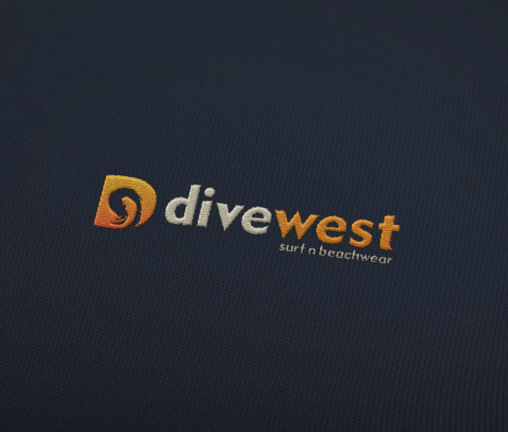 Divewest – Surf Clothing Logo Design