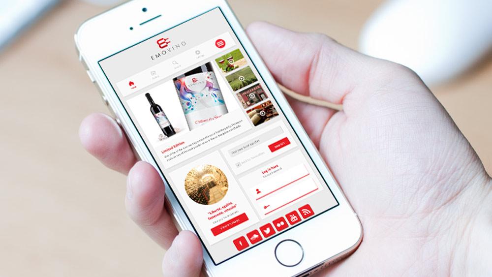 Emovino Logo Design Web Application