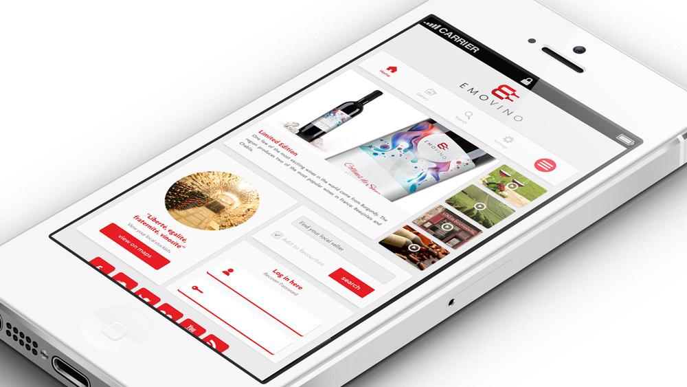 Emovino Logo Design Mobile Application