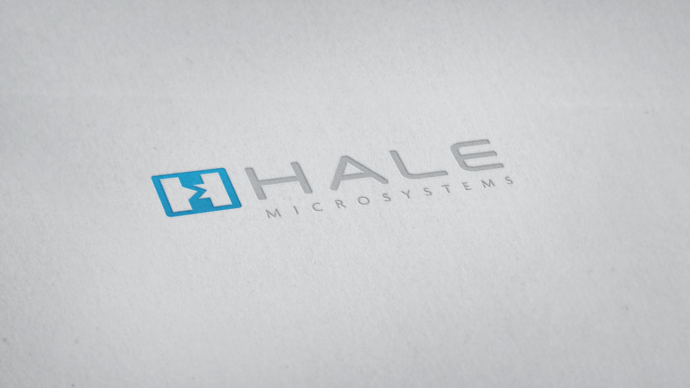 Hale Microsystems, California – Logo Design Embossed