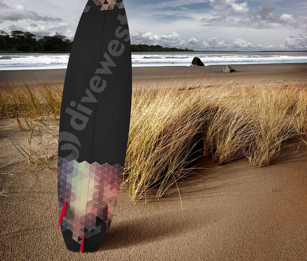 Divewest – Surf Board Logo Design