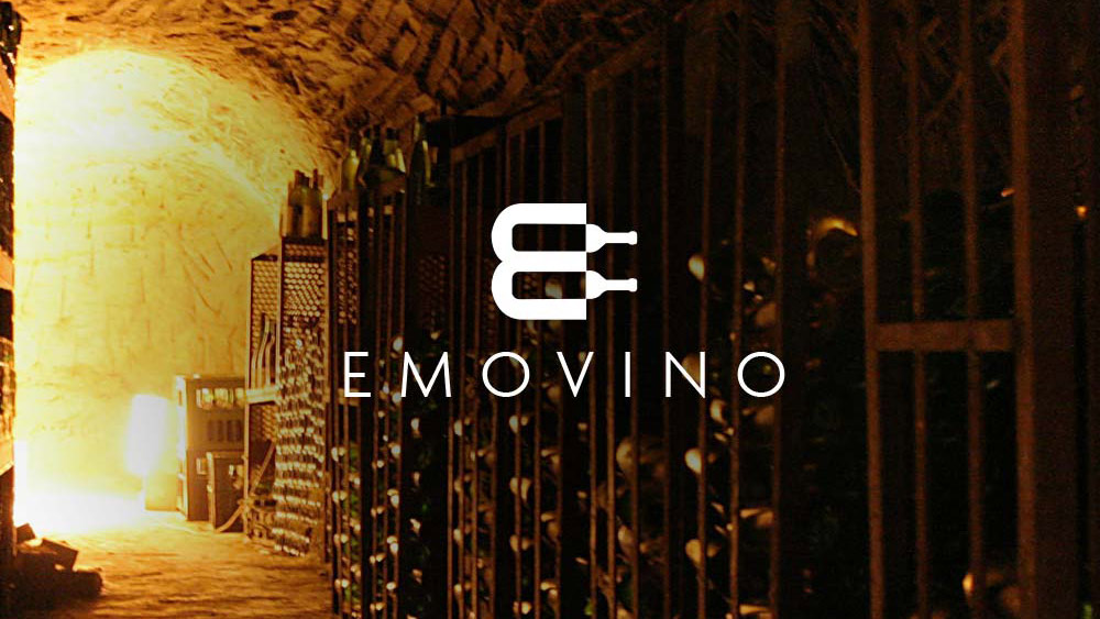 Emovino Logo Design – Wine Distributor, Paris