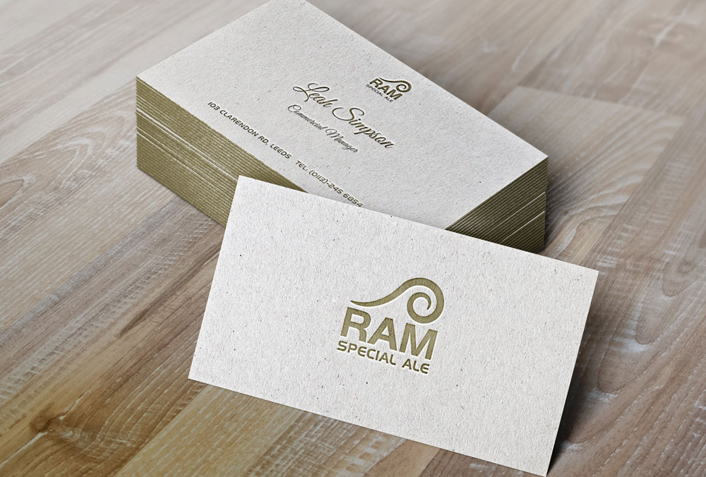 Ram Special Ale Business Card Design