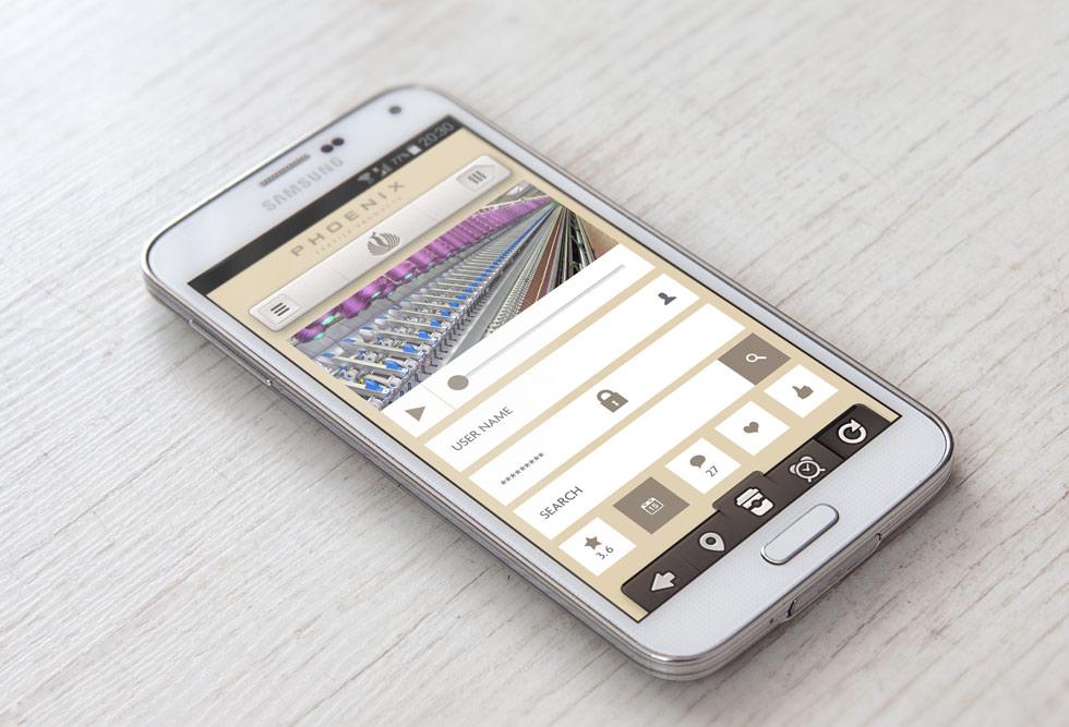 Textile Products App Design