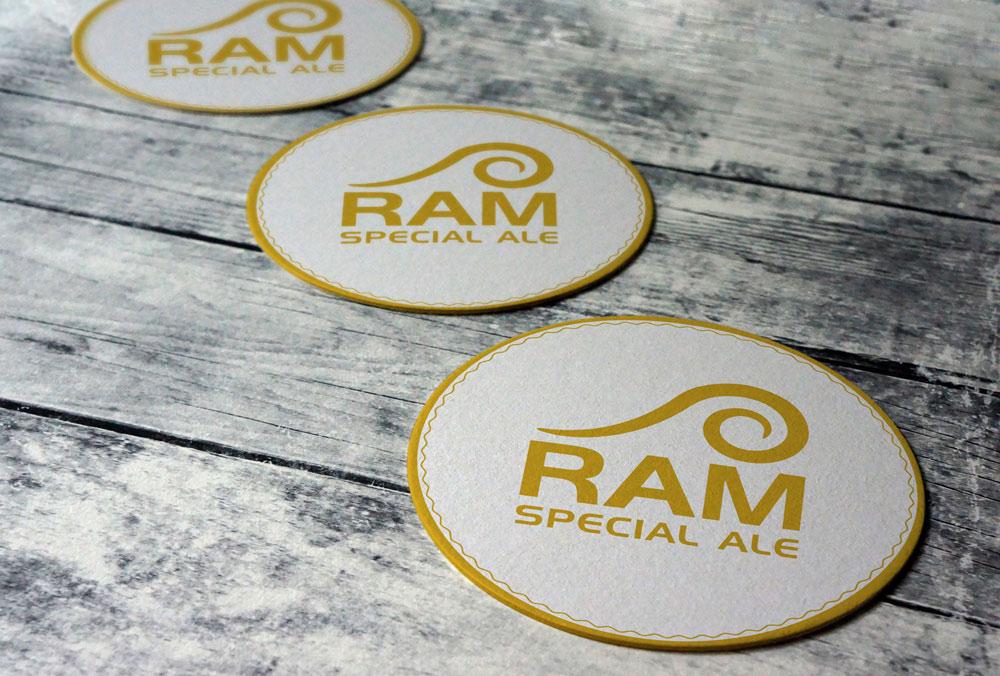 Ram Special Ale Logo Design Beer Mat