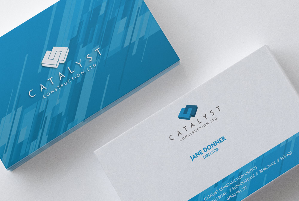 Catalyst Construction Business Card Design