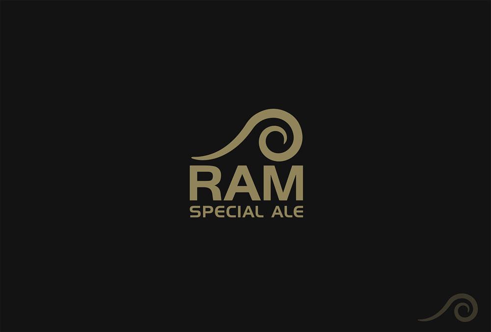 Ram Special Ale Logo Design Dark